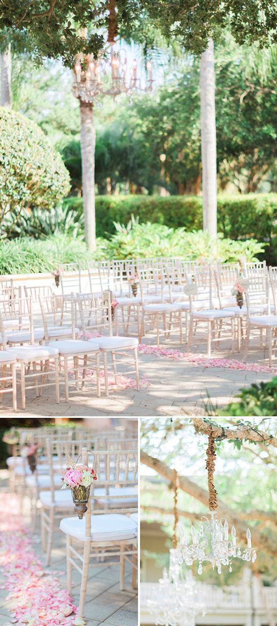 romantic pink and cream ceremony