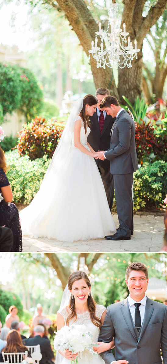 sweet outdoor wedding ceremony