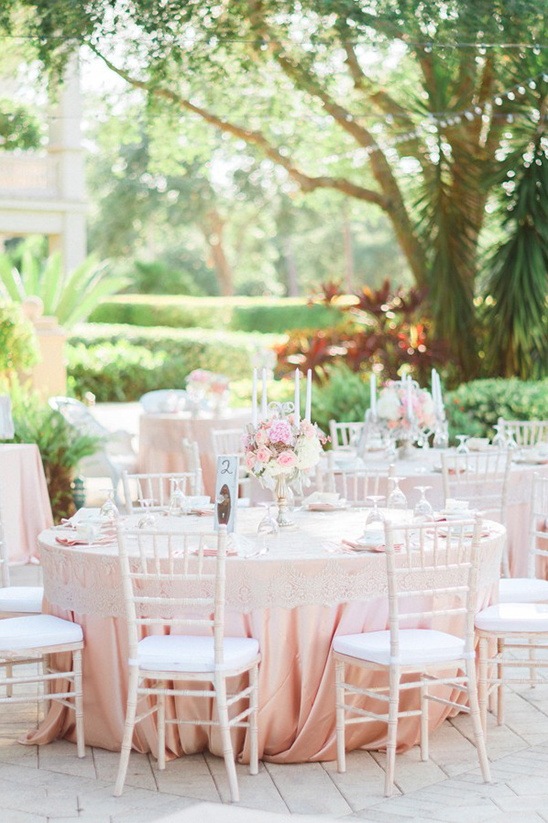 cream and blush wedding reception