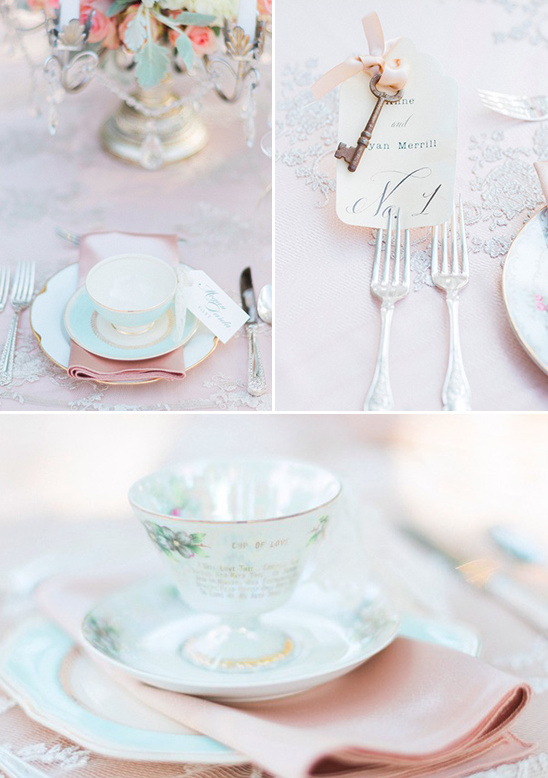 tea cup wedding place settings