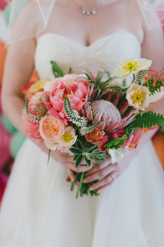 bright bold mixed floral bouquet