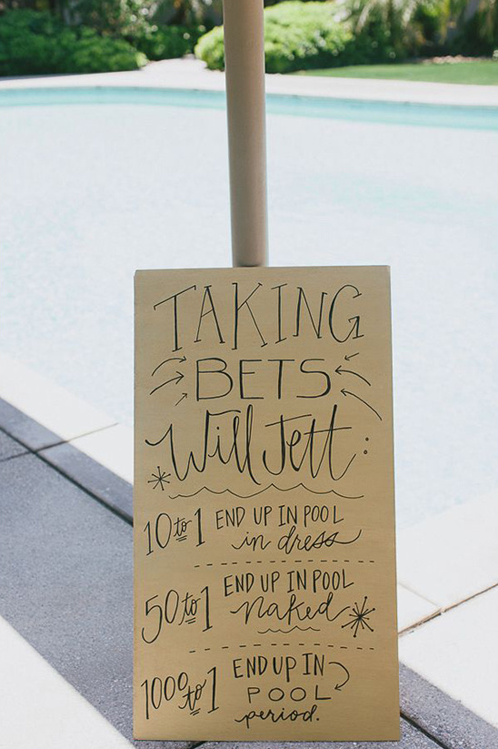 taking bets wedding sign