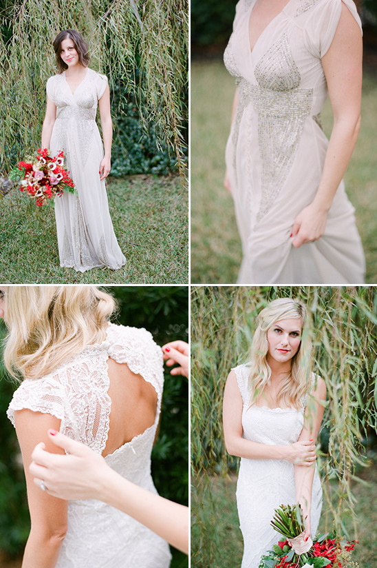 beading and lace brides