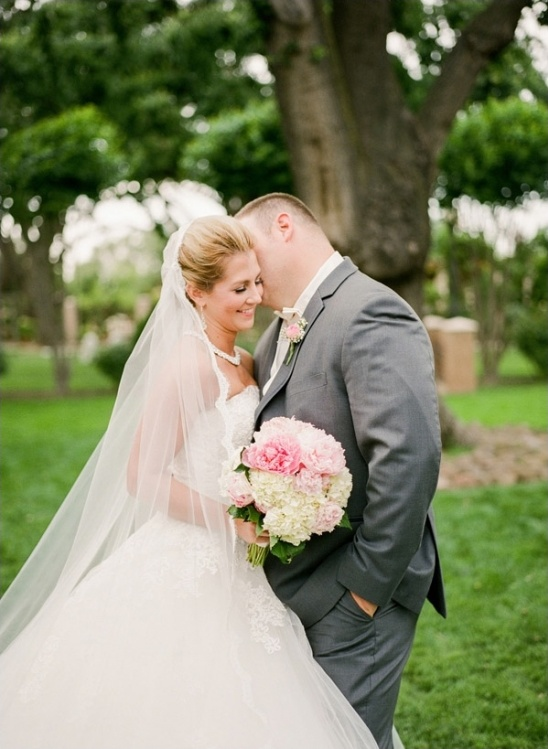 pink and gray wedding