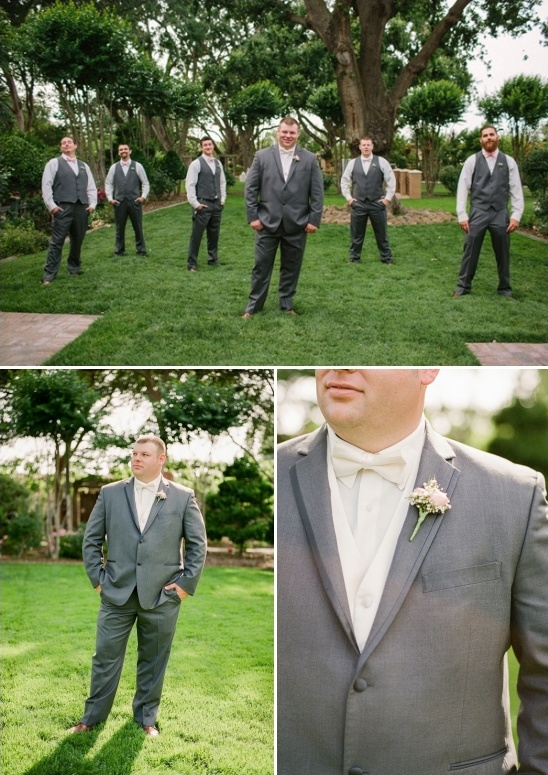gray and white groomsmen look
