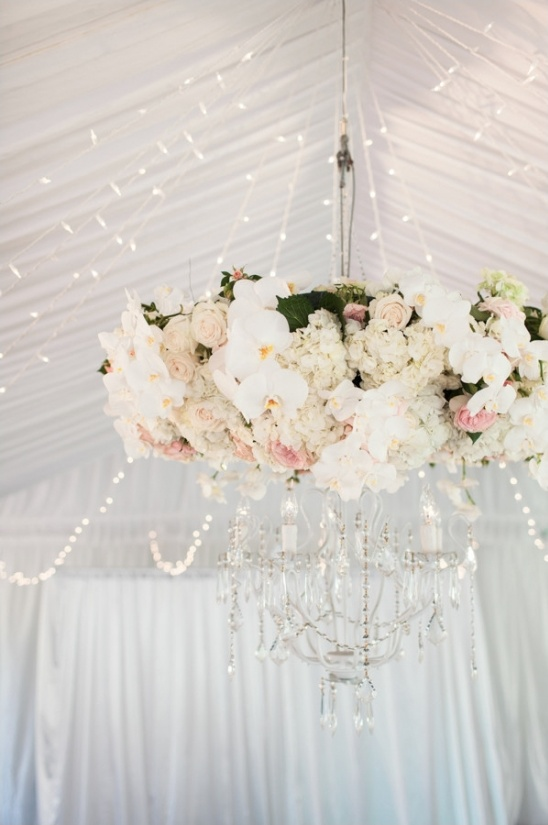 cover your chandeliere in beautiful flowers