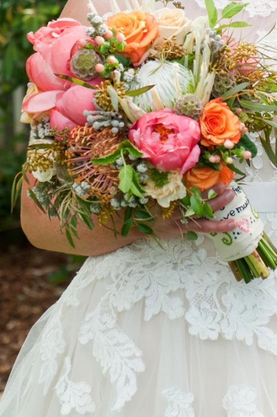 exotic wedding bouquet