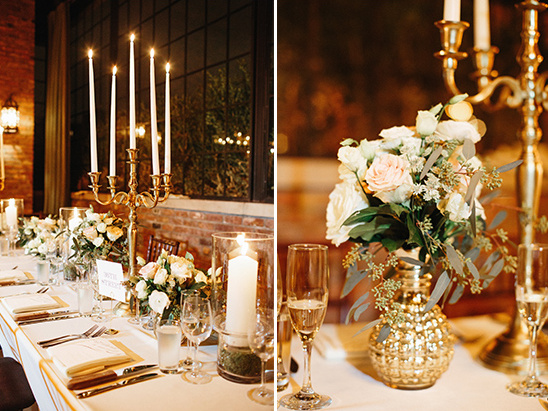 gold reception decor