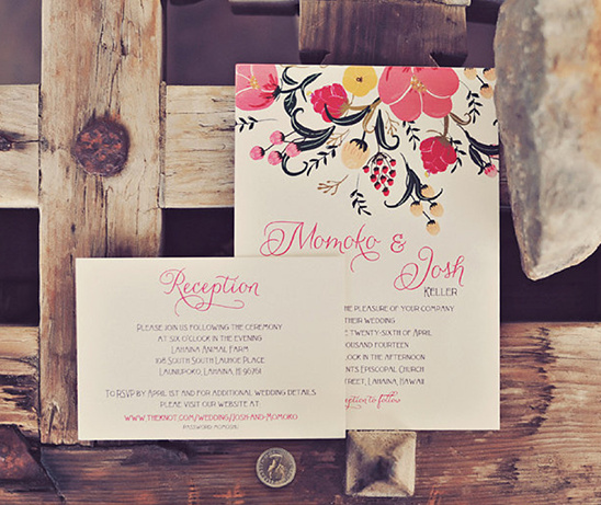 Hawaiian wedding invite