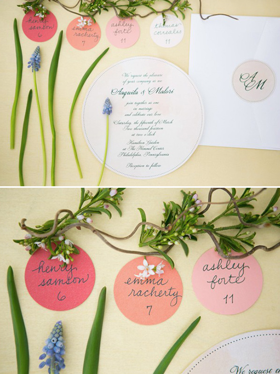 circular wedding invite ideas
