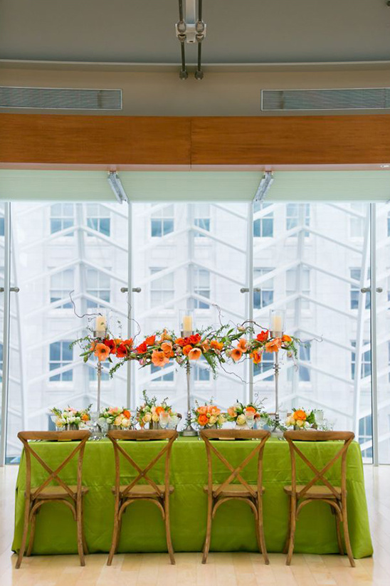 spring inspired reception table