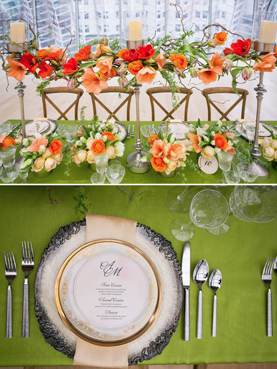 vintage charger place settings