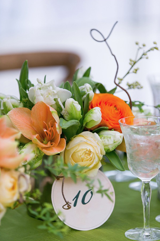 floral bunch table number