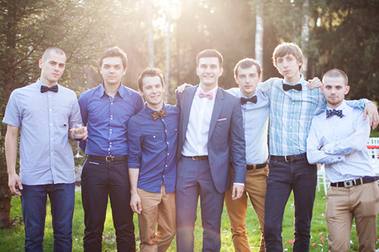 mix and match classy casual groomsmen