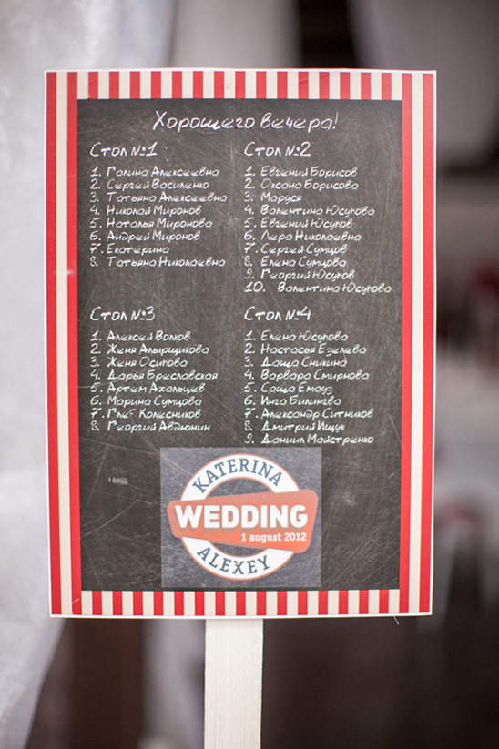 monogramed chalkboard seating chart idea