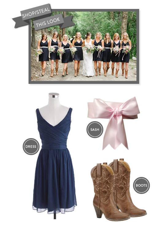 navy and pink bridesmaid dress