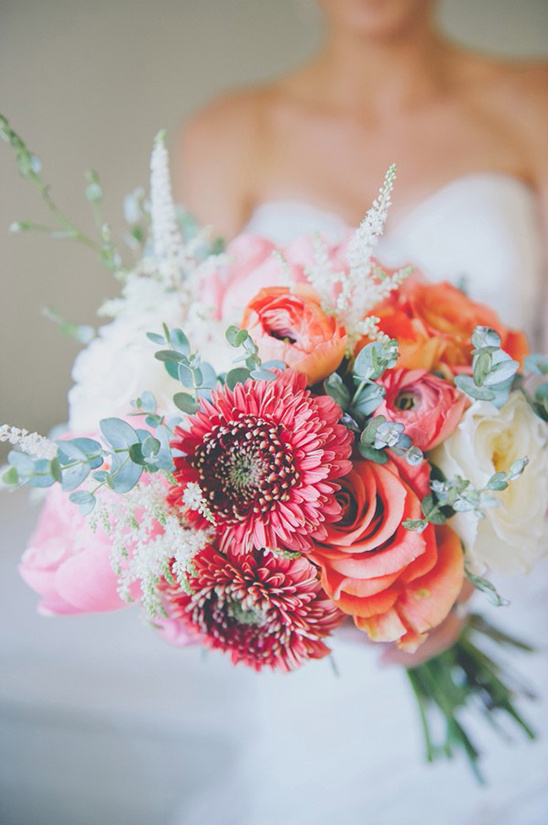 warm palette wedding bouquet