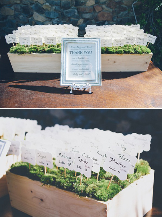 cute escort card idea
