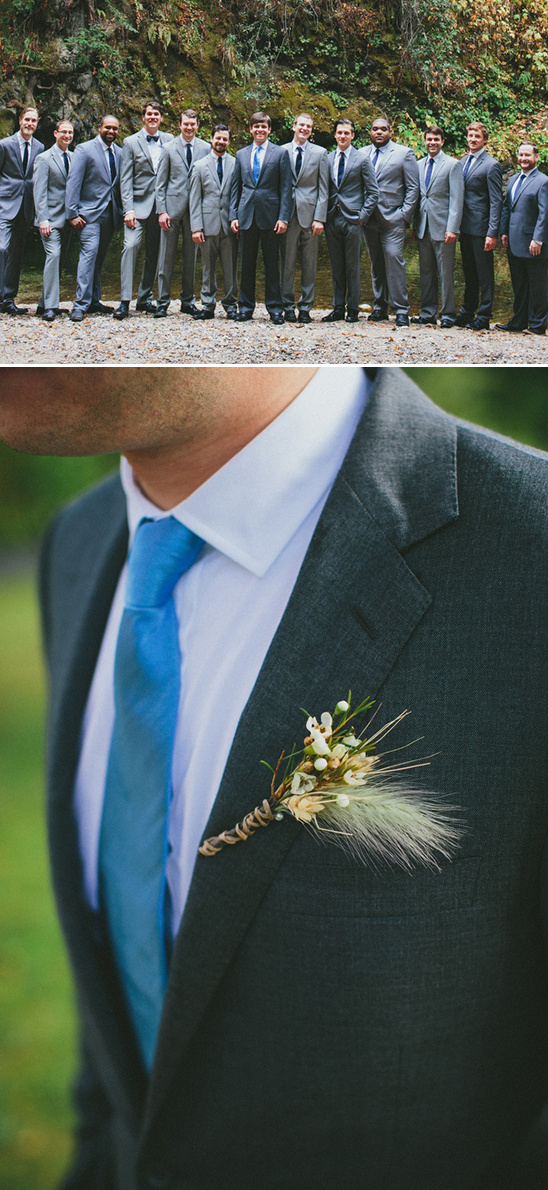 classic grey and blue groomsmen attire
