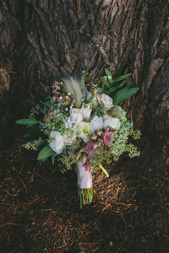 multi floral white and green bouquet