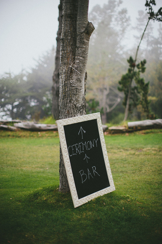 ceremony and bar chalkboard sign