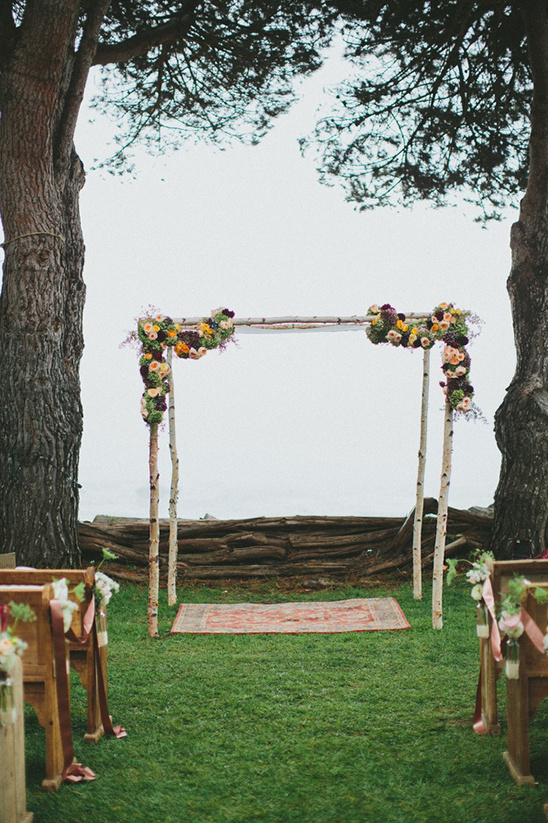 aspen wedding ceremony arch