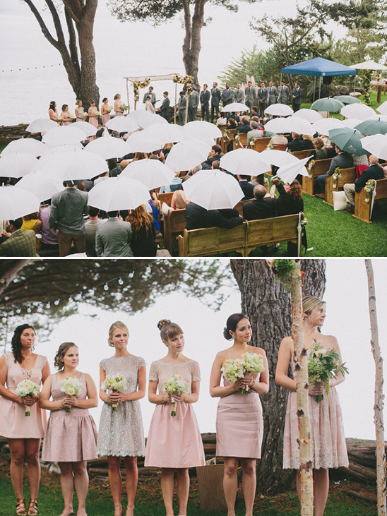 umbrella filled wedding ceremony