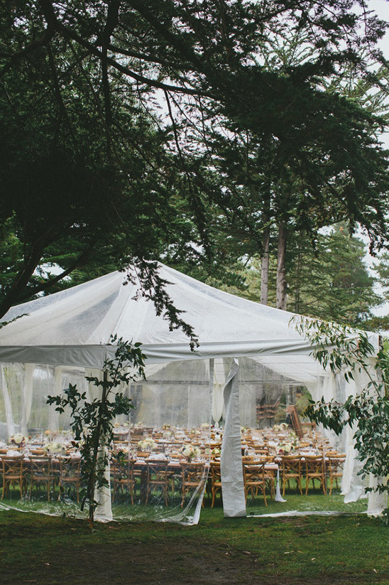 wedding reception under a tent