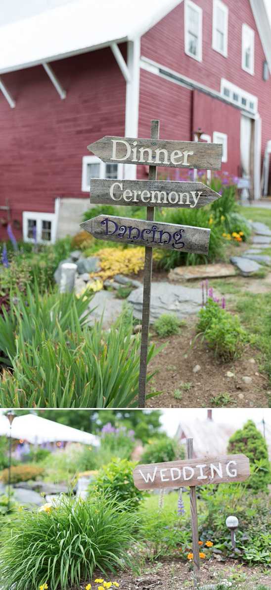 wedding sign posts