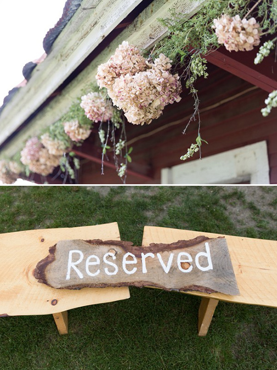 wood plank reserved sign