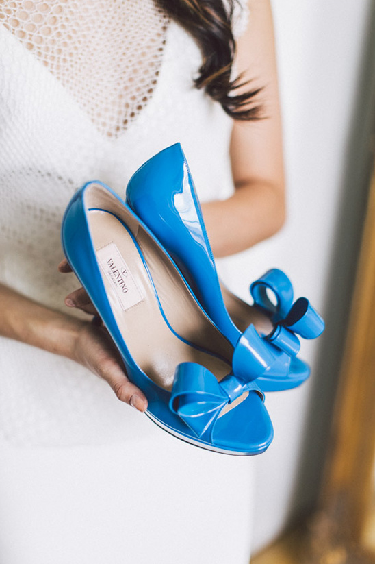 Valentino blue wedding shoes