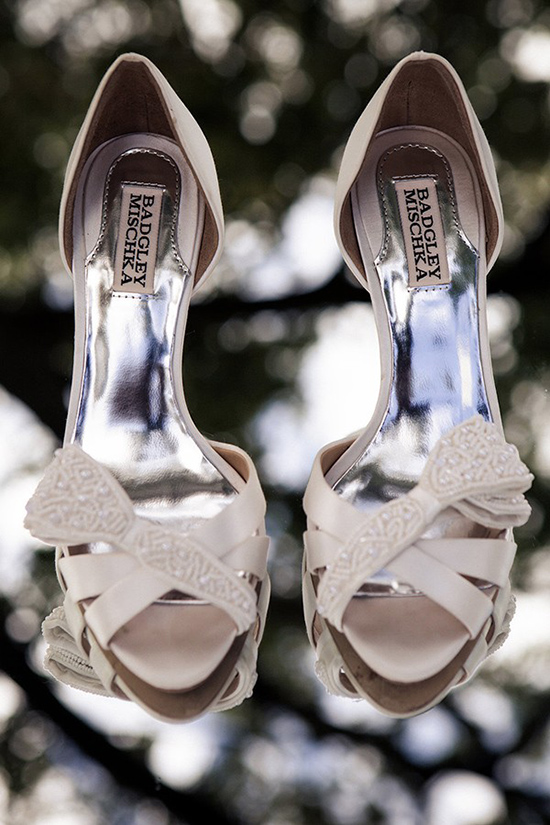 beaded badgley mischka wedding shoes