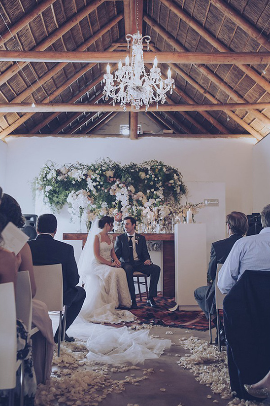 cozy indoor wedding ceremony