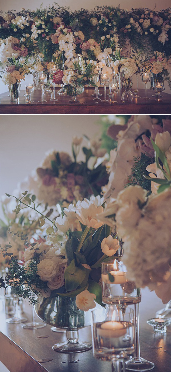 floral and candle ceremony backdrop
