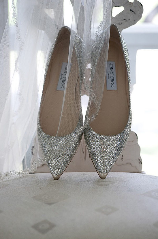 silver pointed jimmy choo wedding shoes