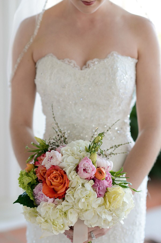 multi colored round wedding bouquet