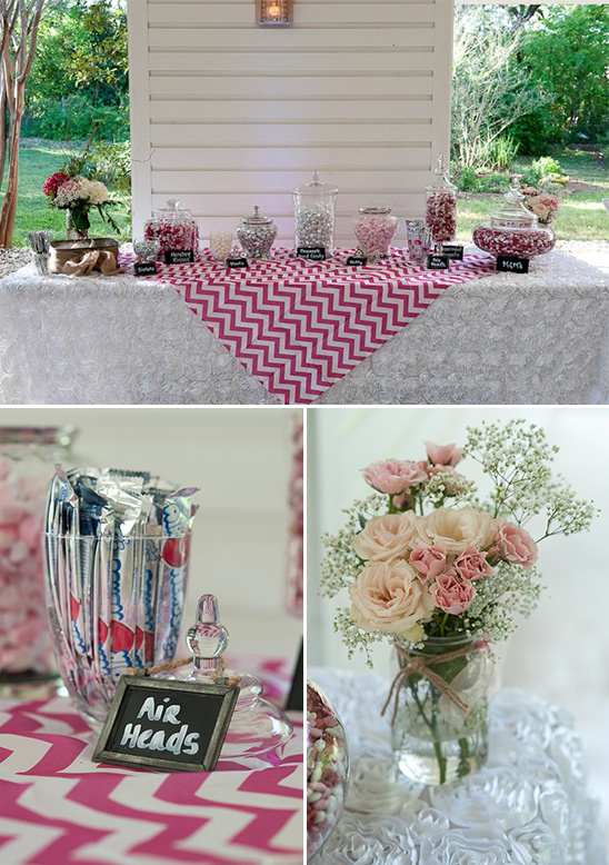 chevron wedding candy table