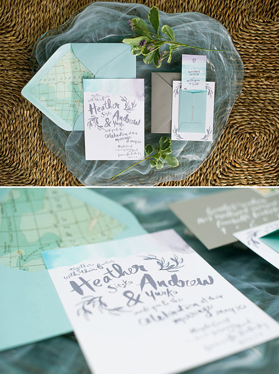 ocean wedding invites