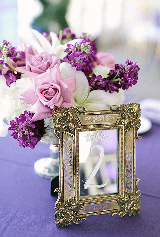 gold framed mirror table numbers