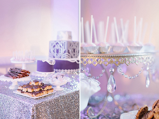 purple wedding dessert table ideas