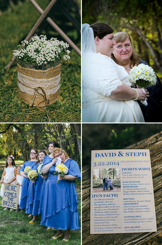 rustic outdoor wedding ceremony details
