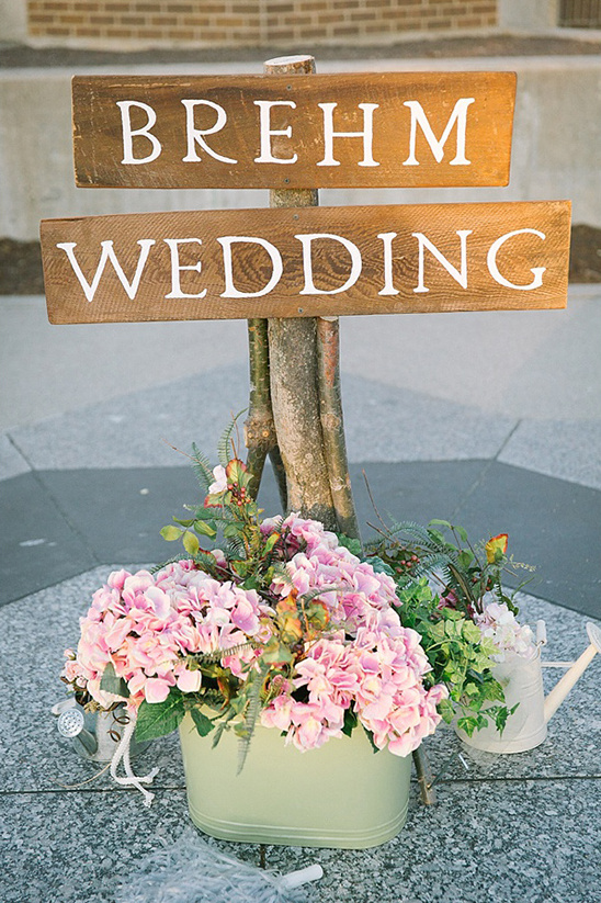 wooden brehm wedding sign