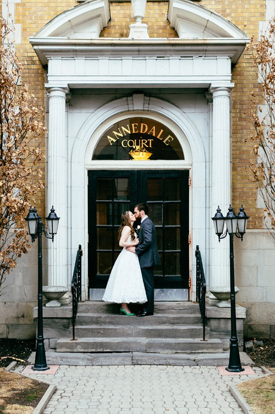 a kiss outside the annedale court
