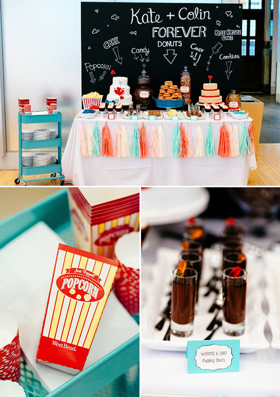 cute dessert table with variety