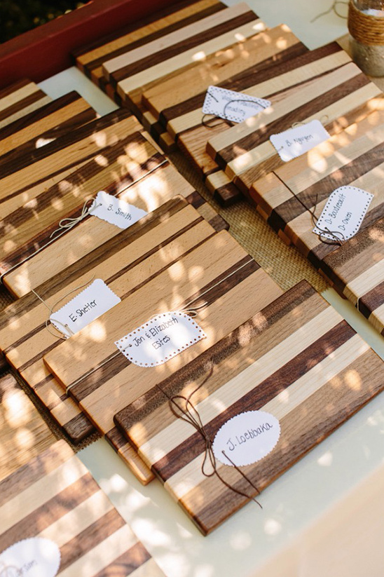 handmade cutting board favors
