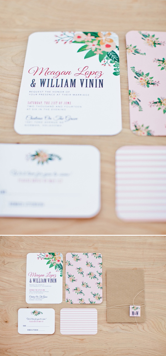 fun and flirty wedding invites