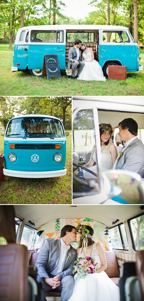 converted VW bus into a mobile photo booth