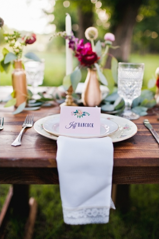 fun and flirty place cards
