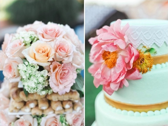 flower topped desserts