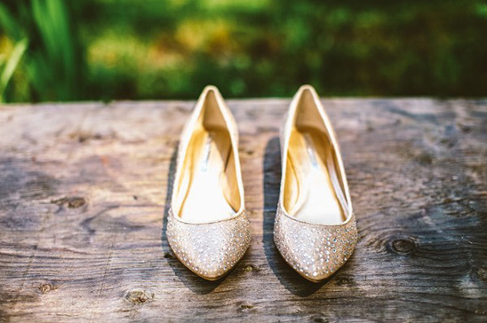 gold bejeweled wedding flats